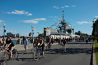 Montreal (Qc) CANADA -Sept  18 2011 File Photo -  A canadian army Ship visit Montreal Old-Port.