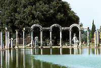 "Italy: Tivoli--Hadrian's Villa. ""Canopus""--a pool--looking from south end to north. Photo '83."