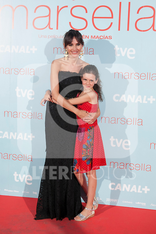 Spanish actresses Goya Toledo (L) and Noa Fontanals (R) poses at `Marsella´ film premiere photocall at Capital cinema in Madrid, Spain. July 17, 2014. (ALTERPHOTOS/Victor Blanco)