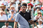 March 18, 2018: Juan Martin Del Potro (ARG) defeated Roger Federer (SUI) 6-4, 6-7(8), 7-6(2) in the Finals of the BNP Paribas Open at the Indian Wells Tennis Garden in Indian Wells, California. ©Mal Taam/TennisClix/CSM