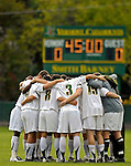 17 October 2007: The University of Vermont Catamounts Men's Soccer Team huddle prior to a game against the University of Maryland Retrievers at Historic Centennial Field in Burlington, Vermont. The Catamounts and Retrievers battled to a scoreless, double-overtime tie...Mandatory Photo Credit: Ed Wolfstein Photo