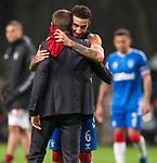 26.02.2020 SC Braga v Rangers: Steven Gerrard and Connor Goldson