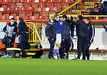 Aberdeen v St Johnstone…26.12.20   Pittodrie      SPFL<br />Scott Tanser is helped off after picking up an early injury<br />Picture by Graeme Hart.<br />Copyright Perthshire Picture Agency<br />Tel: 01738 623350  Mobile: 07990 594431