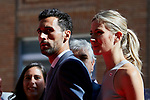 Alvaro Arbeloa and Carlota Ruiz attends to Red Cross World Day at Red Cross Headquarters in Madrid, Spain. October 04, 2018. (ALTERPHOTOS/A. Perez Meca)