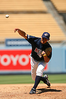 August 9 2008: Matt Graham participates in the Aflac All American baseball game for incoming high school seniors at Dodger Stadium in Los Angeles,CA.  Photo by Larry Goren/Four Seam Images