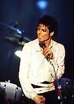 Jacksons 1984 Michael Jackson at Dodger Stadium.© Chris Walter.