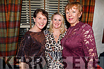 Maura Breen (Kilflynn), Eileen Marshal (Ardfert) and Colette Clohessy (Spa) enjoying the evening in Cassidys on Friday.