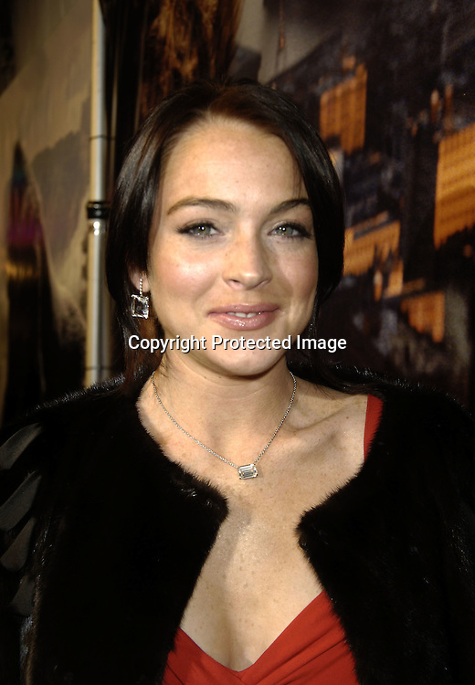 """Lindsay Lohan ..at The World Premier of Universal Pictures """" King Kong"""" ..on December 5, 2005 at The Loews E-Walk. ..Photo by Robin Platzer, Twin Images"""