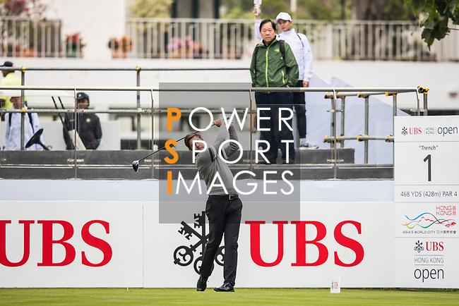 Robert Rock of England tees off during the day three of UBS Hong Kong Open 2017 at the Hong Kong Golf Club on 25 November 2017, in Hong Kong, Hong Kong. Photo by Yu Chun Christopher Wong / Power Sport Images