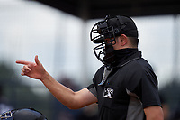 Umpire Takashi Wada during a game between the FCL Blue Jays and FCL Yankees on June 29, 2021 at the Yankees Minor League Complex in Tampa, Florida.  (Mike Janes/Four Seam Images)