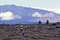 Hiking Mauna Loa crater, Big island of Hawaii