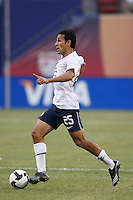 United States midfielder Pablo Mastroeni (25). The men's national teams of the United States and Argentina played to a 0-0 tie during an international friendly at Giants Stadium in East Rutherford, NJ, on June 8, 2008.