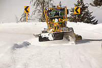 Snowplow removing snow