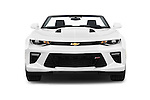 Car photography straight front view of a 2016 Chevrolet Camaro 2SS 2 Door Convertible Front View