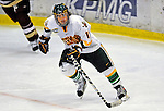 10 January 2009: University of Vermont Catamount forward Chris Atkinson, a Sophomore from Sparta, NJ, in action against the Boston College Eagles during the second game of a weekend series at Gutterson Fieldhouse in Burlington, Vermont. The Catamounts rallied from an early 2-0 deficit to defeat the visiting Eagles 4-2. Mandatory Photo Credit: Ed Wolfstein Photo