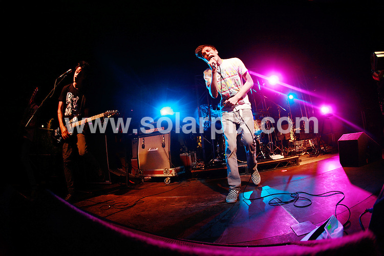 **ALL ROUND PICTURES FROM SOLARPIX.COM**.*WORLDWIDE RIGHTS*.Hadouken perfom (supporting We Are Scientists) at Ibiza Rocks, Pikes Hotel, Ibiza. 29th August 2007...This pic: Hadouken..JOB REF: 4581 GMT   DATE: 29_08_2007.**MUST CREDIT SOLARPIX.COM OR DOUBLE FEE WILL BE CHARGED* *UNDER NO CIRCUMSTANCES IS THIS IMAGE TO BE REPRODUCED FOR ANY ONLINE EDITION WITHOUT PRIOR PERMISSION*