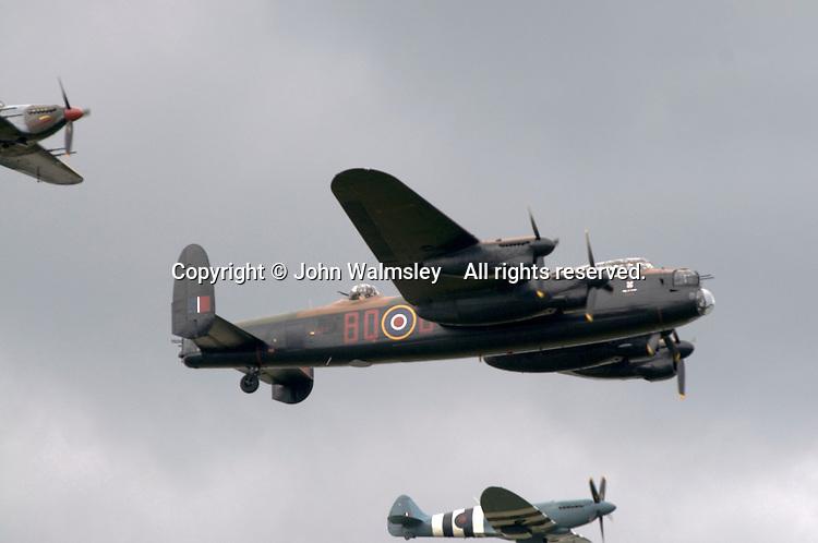 Battle of Britain Memorial Flight, Hurricane, Lancaster & Spitfire, at the Farnborough International Airshow