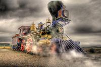 Historic Jupiter Locomotive at Golden Spike NHS in Utah.