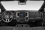 Stock photo of straight dashboard view of 2021 Ram 1500-Classic Warlock 4 Door Pick-up Dashboard