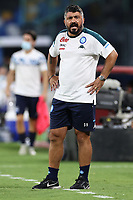Gennaro Gattuso coach of SSC Napoli looks on<br /> during the friendly football match between SSC Napoli and Pescara Calcio 1936 at stadio San Paolo in Napoli, Italy, September 11, 2020. <br /> Photo Cesare Purini / Insidefoto