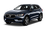 2018 Volvo XC60 T5 Momentum 4WD 5 Door SUV angular front stock photos of front three quarter view