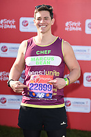 Marcus Bean<br /> at the start of the 2018 London Marathon, Greenwich, London<br /> <br /> ©Ash Knotek  D3397  22/04/2018