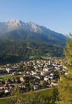 Italy, South Tyrol, Alto Adige, Dolomites, Val Pusteria, San Candido and Cima Nove mountain