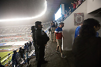 MEXICO CITY, MEXICO - June 11, 2017:  USA fans exit after attending  the World Cup Qualifier match against Mexico at Azteca Stadium.