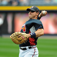 29 March 2008: Mark Teixeira of the Atlanta Braves in an exhibition game against the Cleveland Indians at Turner Field in Atlanta, Ga.   Photo by: Tom Priddy/Four Seam Images