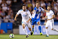 Deportivo de la Coruna's Fede Cartabia (r) and Real Madrid's Daniel Carvajal during La Liga match. August 20,2017.  *** Local Caption *** © pixathlon +++ tel. +49 - (040) - 22 63 02 60 - mail: info@pixathlon.de