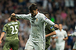 Real Madrid's Alvaro Morata during the match of UEFA Champions League group stage between Real Madrid and Legia de Varsovia at Santiago Bernabeu Stadium in Madrid, Spain. October 18, 2016. (ALTERPHOTOS/Rodrigo Jimenez)