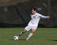 Amherst, Massachusetts - November 21, 2015: NCAA Division III. 2015 NCAA Division III Championships third round. Amherst College (white) defeat Lycoming College (blue), 2-0, on Hitchcock Field at Amherst College.
