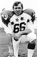 Bill Whisler 1970 Canadian Football League Allstar team. Copyright photograph Ted Grant