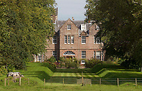 Carnell Estate - Hurlford, Scotland. The home for two weeks for Angelina Jolie, and her partner Brad Pitt who is filming World War Z in Glasgow..Picture: Universal News And Sport (Scotland). 18 August 2011. www.unpixs.com..<br /> Carnell Estate - Hurlford, Scotland. Angelina Jolie and her partner Brad Pitt, who is filming World War Z in Glasgow, take a walk in the grounds of the country house. Bagpipes could be heard playing in the background as the couple strolled together. It is believed they may have been eating haggis. The pictures were taken from the public road.. Picture: Maurice McDonald/ Universal News And Sport (Scotland) 22 August 2011. www.unpixs.com..