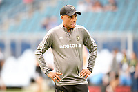 KANSAS CITY, KS - JUNE 26: Zak Abdel assistant coach Los Angles FC during a game between Los Angeles FC and Sporting Kansas City at Children's Mercy Park on June 26, 2021 in Kansas City, Kansas.