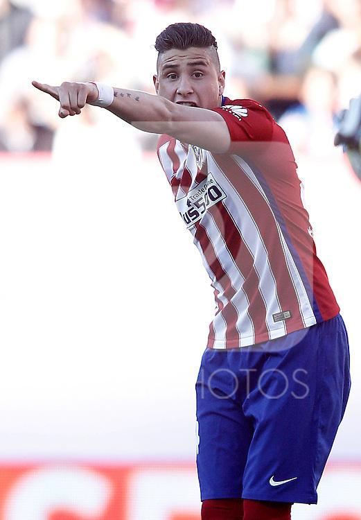 Atletico de Madrid's Jose Maria Gimenez during La Liga match. April 30,2016. (ALTERPHOTOS/Acero)