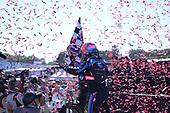 #10: Konica Minolta Acura ARX-05 Acura DPi, DPi: Ricky Taylor, Filipe Albuquerque, podium, winners cicrle, victory lane