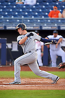 Mesa Solar Sox first baseman Casey Gillaspie (15) at bat during an Arizona Fall League game against the Peoria Javelinas on October 21, 2015 at Peoria Stadium in Peoria, Arizona.  Peoria defeated Mesa 5-3.  (Mike Janes/Four Seam Images)