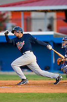 Jonathan Goncalves #17 of the Elizabethton Twins follows through on his swing versus the Burlington Royals at Burlington Athletic Park July 19, 2009 in Burlington, North Carolina. (Photo by Brian Westerholt / Four Seam Images)