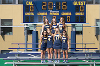Berkeley, Ca - August, 13, 2016: Cal Field Hockey Portraits.