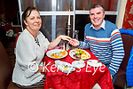 Jacqueline and Tom Lynch enjoying the evening in Cassidys on Saturday.