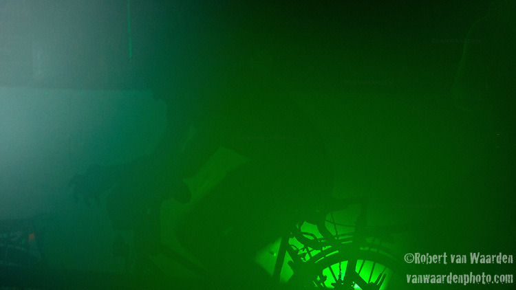 Silhouette of a bike powered generator.