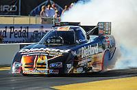 Oct. 14, 2011; Chandler, AZ, USA; NHRA funny car driver Matt Hagan. during qualifying at the Arizona Nationals at Firebird International Raceway. Mandatory Credit: Mark J. Rebilas-