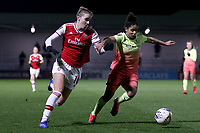 Vivianne Miedema of Arsenal and Demi Stokes of Manchester City during Arsenal Women vs Manchester City Women, FA Women's Continental League Cup Football at Meadow Park on 29th January 2020