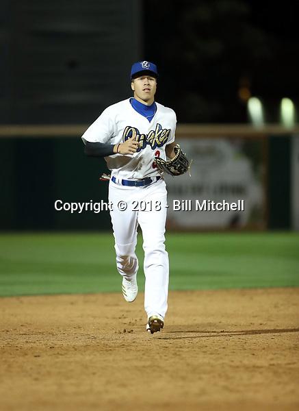 Jeren Kendall - 2018 Rancho Cucamonga Quakes (Bill Mitchell)