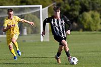 Blake Driehuis of the Waterside Karori during the Central League Football - Waterside Karori v Western Suburbs at Karori Park 1, Wellington, New Zealand on Saturday 22 May 2021.<br /> Copyright photo: Masanori Udagawa /  www.photosport.nz