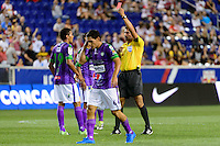 Harrison, NJ - Wednesday Aug. 03, 2016: Sixto Betancourt, Javier Santos during a CONCACAF Champions League match between the New York Red Bulls and Antigua at Red Bull Arena.