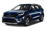 2020 KIA Niro-phev Sense 5 Door SUV Angular Front automotive stock photos of front three quarter view