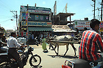 The town of Tirupur, Tamilnadu. After lifting of quota system in textile export on 1st january 2005. Tirupur has become the biggest foreign currency earning town of India.