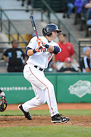 Brooklyn Cyclones outfielder Brandon Nimmo (8) during game against the Staten Island Yankees at MCU Park on June 18, 2012 in Brooklyn, NY.  Brooklyn defeated Staten Island 2-0.  Tomasso DeRosa/Four Seam Images